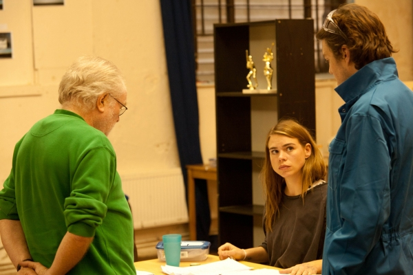 Michael Attenborough (Director), Billie Piper (Carly) and Tom Burke (Greg)