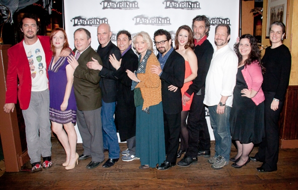 David Bar Katz, Kelley Rae O'Donnell, Sidney Williams, Paul Kandel, David Deblinger, Ellen Burstyn, Max Casella, Kelley Curran, John Glover, Charles Goforth, Melissa Ross, and Pam MacKinnon at ATMOSPHERE OF MEMORY Celebrates Opening Night!