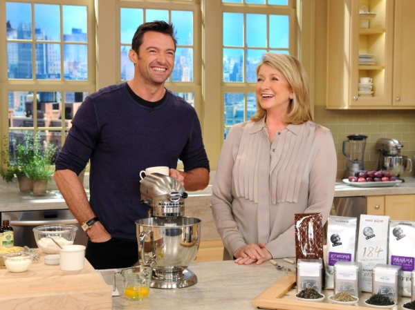 Martha Stewart and Hugh Jackman at Hugh Jackman Visits Martha Stewart!