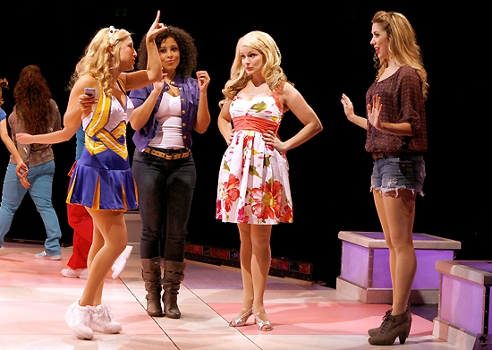 Tiffany Engen (Serena), Allysa Shorte (Pilar),Kelly Felthous (Elle Woods) Sara Andreas (Margot)