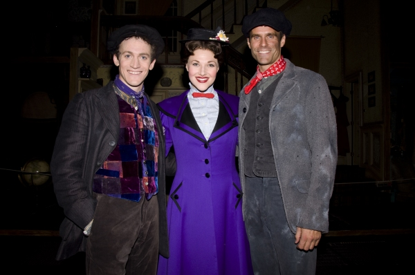 Case Dillard,  Steffanie Leigh, Cameron Matthison at Cameron Mathison Makes Cameo in MARY POPPINS!