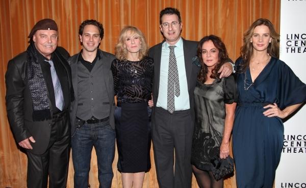 Stacy Keach, Thomas Sadoski, Judith Light, playwright Jon Robin Baitz, Stockard Channing, and Rachel Griffiths. Photo Credit Walter McBride