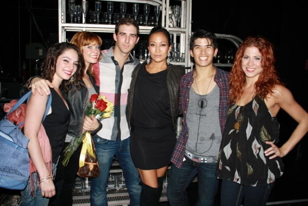Photo Flash: DANCING WITH THE STARS' Carrie Ann Inaba Visits COME FLY AWAY