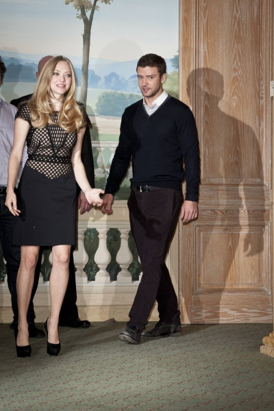 Justin Timberlake and Amanda Seyfried at the 'In Time'  Photo