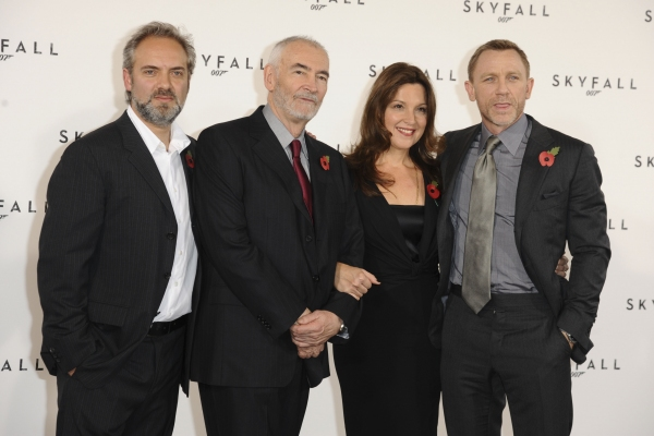 Director Sam Mendes, Michael G Wilson, Barbara Broccoli and Daniel Craig