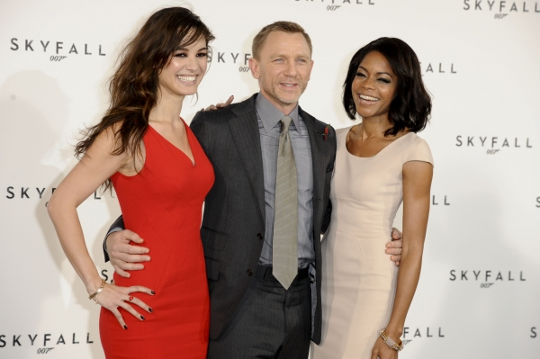 Nov. 3, 2011 - London, England, United Kingdom - BERENICE MARLOHE, DANIEL CRAIG and NAOMIE HARRIS at the photocall to announce the start of production of the new James Bond film 'Skyfall' at Massimo's restaurant. (Credit Image: © Ash Knotek/Snappers/ZU at Filming to Begin on James Bond Film SKYFALL