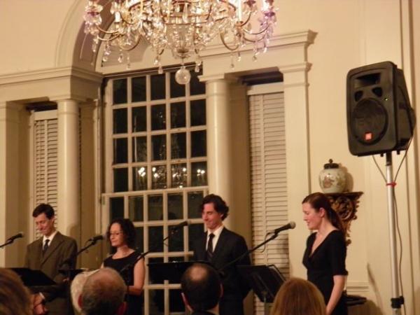 David M. Lutken, Barbara Walsh, Tony Wolf, Annmarie Benedict.  Photo