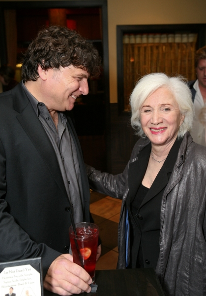 LOS ANGELES, CA - NOVEMBER 6: Cast members Marco Barricelli (L) and Olympia Dukakis (R) pose during the party for the opening night performance of 'Vigil' at Center Theatre Group's Mark Taper Forum on November 6, 2011 in Los Angeles, California. (Photo by at VIGIL Opens at Center Theatre Group
