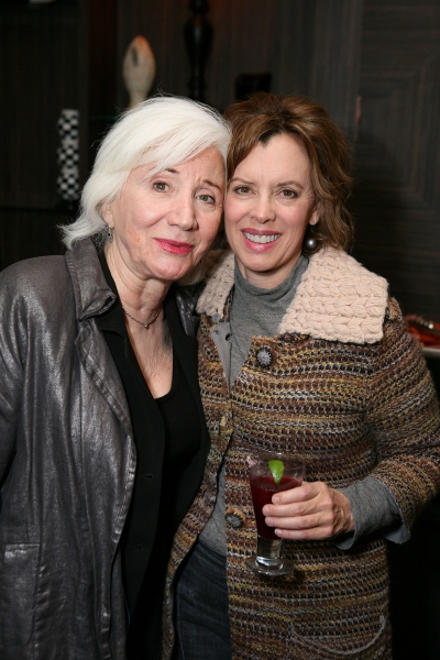 LOS ANGELES, CA - NOVEMBER 6: Cast member Olympia Dukakis (L) and actress Jeanie Hackett (R) pose during the party for the opening night performance of 'Vigil' at Center Theatre Group's Mark Taper Forum on November 6, 2011 in Los Angeles, California. (Pho at VIGIL Opens at Center Theatre Group