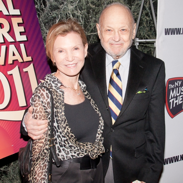 Charles Strouse and wife Barbara Siman at Daniel Radcliffe, SMASH Stars & More Honor Neil Meron & Craig Zadan and Celebrate NYFM!