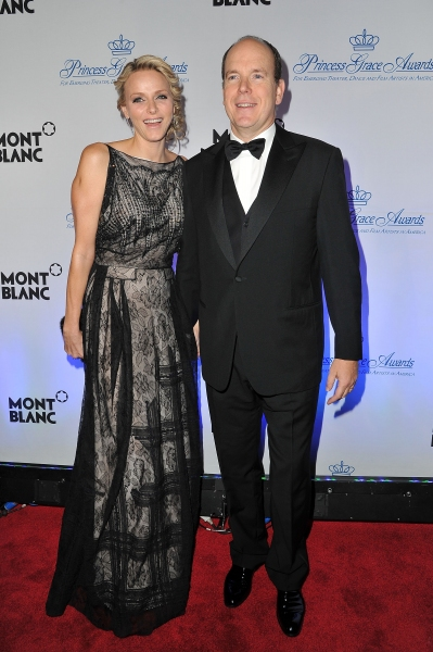 NEW YORK, NY - NOVEMBER 01:  T.S.H. Prince Albert II and Princess Charlene of Monaco attend MONTBLANC Launches Collection Princesse Grace De Monaco at the Princess Grace Awards Gala at Cipriani 42nd Street on November 1, 2011 in New York City.  (Photo by