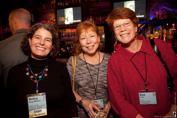 NAMT Executive Director Betsy King Militello, NAMT members Harriet Kittner and Sue Frost
