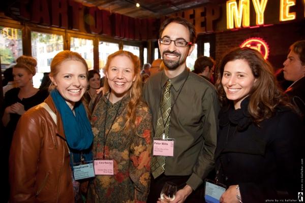 NAMT Member Stephanie Cowan, writers Cara Reichel and Peter Mills, NAMT Member Tara S Photo