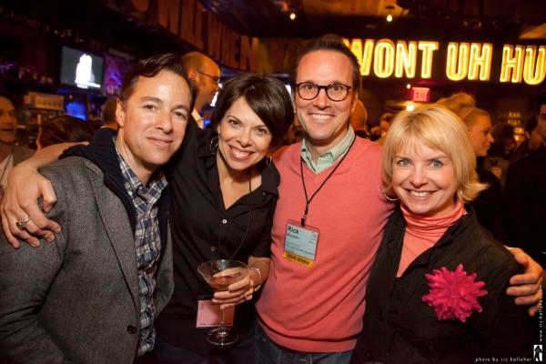 director Gordon Greenberg, writer Jill Abramovitz, NAMT Board member Rick Boynton, NAMT Member Bernie Griffin