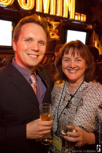 NAMT New Works Director Branden Huldeen with Michelle Yaroshko