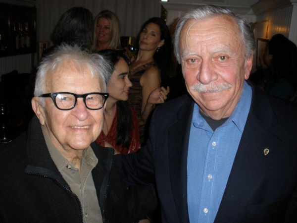 filmmaker Albert Maysles & producer Emanuel Azenberg Photo