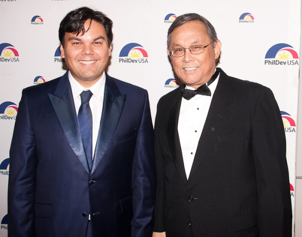 Robert Lopez and Father at Lea Salonga, Jose Llana, and More at PhilDev's SUITES BY SONDHEIM