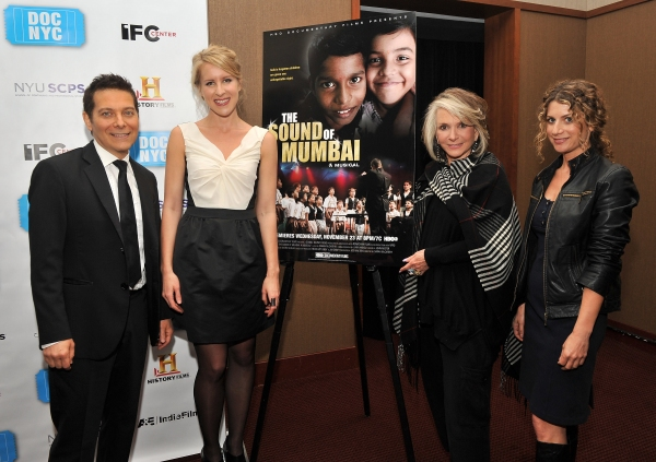 Michael Feinstein, director Sarah McCarthy, President of HBO Documentrary Films Sheila Nevins, and VP of HBO Documentary Films Sara Bernstein