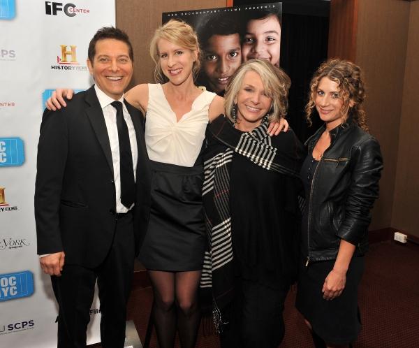 Michael Feinstein,  Sarah McCarthy, Sheila Nevins, and  Sara Bernstein