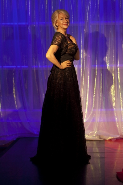 Wax figure of actress Dame Helen Mirren 