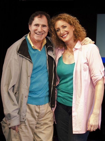 Richard Kind and Judy Gold at Sarah Silverman & Richard Kind Visit THE JUDY SHOW
