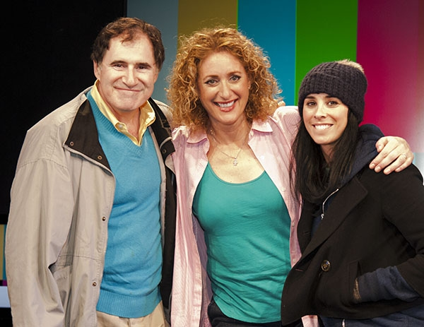 Richard Kind, Judy Gold and Sarah Silverman at Sarah Silverman & Richard Kind Visit THE JUDY SHOW