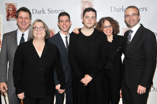 David Bennett (Gotham Chamber Opera), Diane Wondisford (Music-Theatre Group), Stephen Karam, Nico Muhly, Rebecca Taichman, David Devan (Opera Company of Philidelphia) at Rufus Wainwright, Isaac Mizrahi, et al. at DARK SISTERS Premiere
