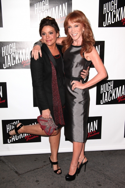 Rachael Ray and Kathy Griffin  at HUGH JACKMAN, BACK ON BROADWAY Red Carpet