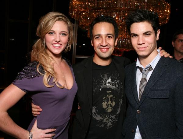 LOS ANGELES, CA - NOVEMBER 11: (L-R) Cast member Taylor Louderman, Composer/Lyricist  Photo