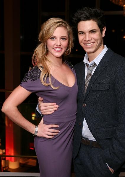 LOS ANGELES, CA - NOVEMBER 11: Cast members Taylor Louderman (L) and Jason Gotay (R)  Photo