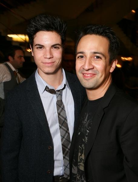LOS ANGELES, CA - NOVEMBER 11: Cast member Jason Gotay (L) and Composer/Lyricist Lin- Photo