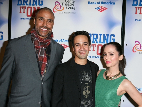 Athlete Rick Fox, Composer/Lyricist Lin-Manuel Miranda and actress Eliza Dushku