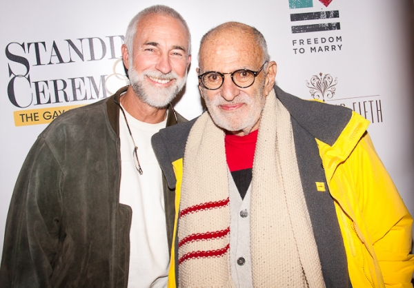 David Webster and Larry Kramer at STANDING ON CEREMONY: THE GAY MARRIAGE PLAYS Celebrates New York Premiere