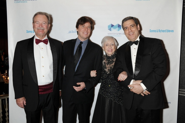 Brian Duperreault, Joshua Bell, Celeste Holm and Frank Basile at Celeste Holm, Joshua Bell, et al. at Arts Horizons Gala