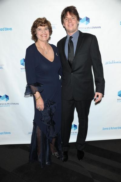 Elizabeth Halverstam and Joshua Bell at Celeste Holm, Joshua Bell, et al. at Arts Horizons Gala
