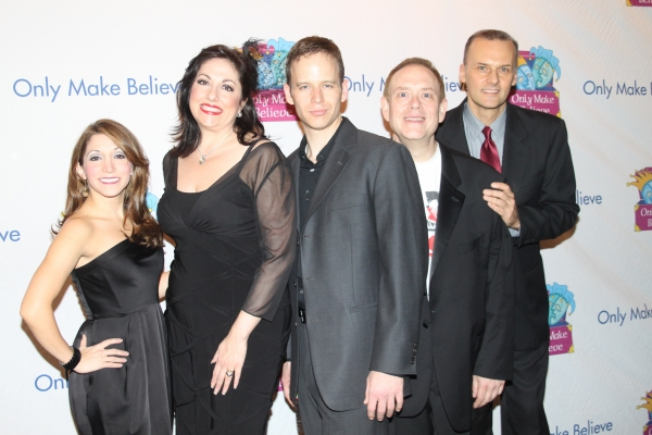 The Cast of Forbidden Broadway: Christina Bianco, Gina Kriezman, James Donegan, Matthew Martin Ward and William Selby
