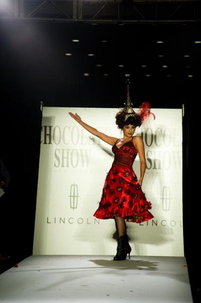Sofitel Luxury Hotels and Vincent Bitauld (Sofitel) collaborated with Drama Desk Award winning costume designer  David Woolard  to create a chocolate dress inspired by Can-Can