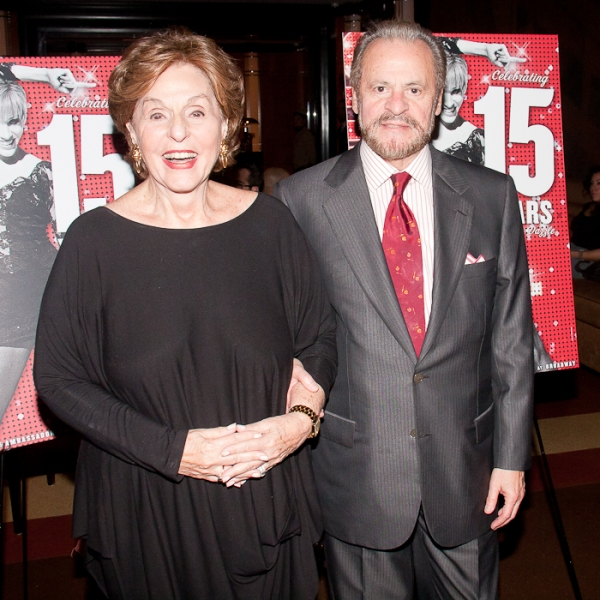 Fran Weissler and Barry Weissler at Happy 15th Broadway Birthday CHICAGO!