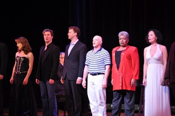 Sarah Uriarte Berry, Ron Bohmer, Kevin Earley, Eddie Korbich, Terri White and Barbara Walsh