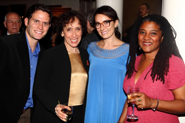 Stephen Pasquale, Susan Birkenhead, Laura Benanti, Lynn Nottage at Laura Benanti, Joshua Henry, et al. at the 2011 Dramatists Guild Awards