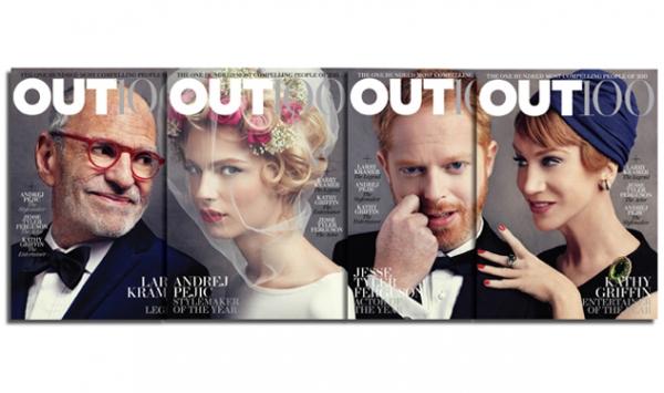 Photo Flash: Larry Kramer, Jesse Tyler Ferguson, et al. Featured on OUT100 Covers