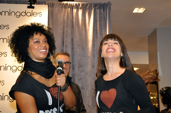 Jacqueline B. Arnold, Mike McGowan and Esther Stillwell at Midtown Men, Martha Wash, PRISCILLA Perform at  Bloomingdale's Holiday Window Unveiling