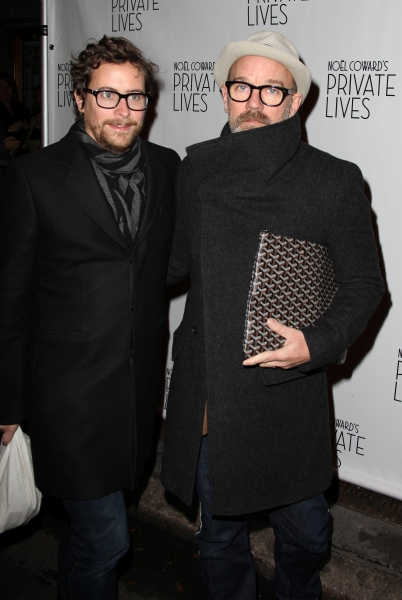 Thomas Dozol and Michael Stipe  at PRIVATE LIVES Opens on Broadway - Arrivals & After Party!