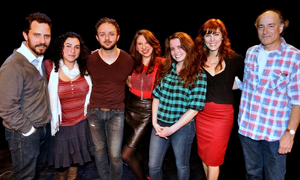 Oliver Butler, Annie Levy, James Kautz, Lisa Lewis, Phoebe Strole, Mara Davi and Peter Friedman at Industry Reading Of Schooled with Friedman, Strole, Davi & Kautz