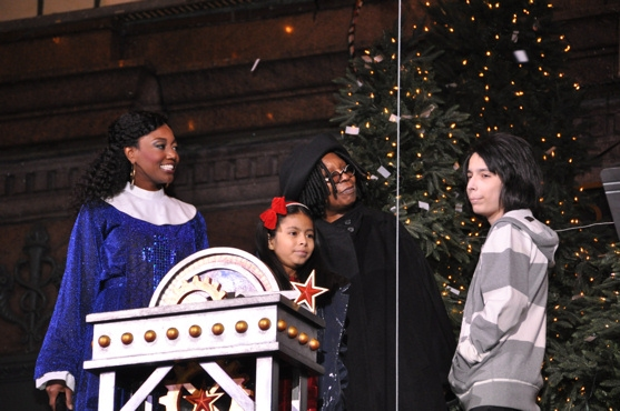Patina Miller, Whoopie Goldberg, the Make A Wish Kids-Gabriella and Anthony
