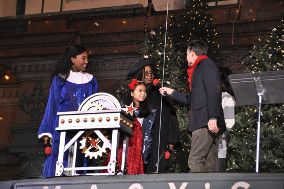 Patina Miller, Whoopie Goldberg, the Make A Wish Kids-Gabriella and Anthony along with William Schermerhorn