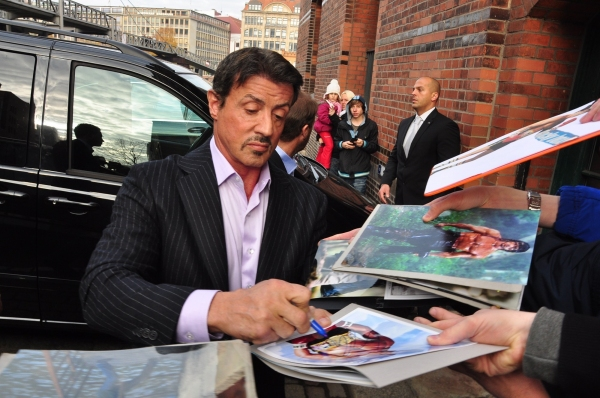 Photo Flash: Sylvester Stallone Promotes ROCKY Musical in Germany