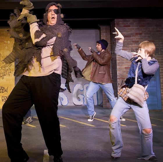 Jim Johnson (The Ogre), Eric Dobbins (Frankie), Mikaela Krantz (The Kid)  Photo