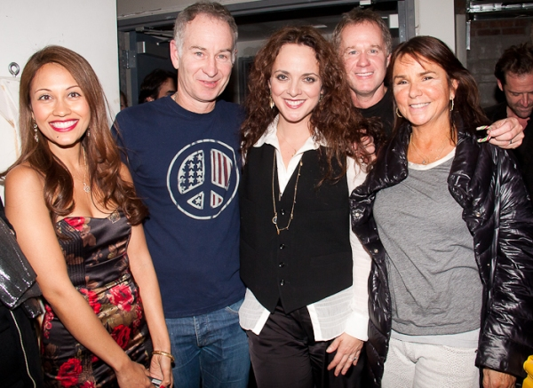 Reema Zaman, John McEnroe, Melissa Errico, Patrick McEnroe and Patty Smyth at Melissa Errico Sparkles at Joe's Pub