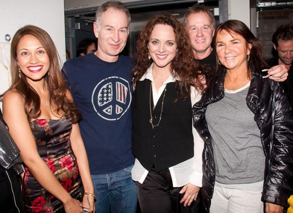 Reema Zaman, John McEnroe, Melissa Errico, Patrick McEnroe and Patty Smyth Photo